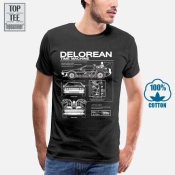 Back To The Future Delorean Schematic T-Shirt Cool T Shirt Girl Top Tee Black T-Shirt Hip Hop T-Shirts Rock T Shirt Graphic doctor dr who daleks tardis medium t shirt tee shirt van gogh phone booth black 012290
