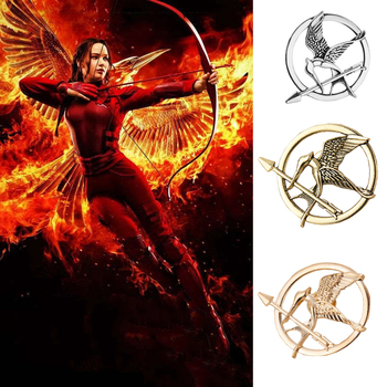 Hunger Games Brooch Pin Bird Eagle Arrow Logo Badge Vintage Fashion Hot Animal Game Movie Jewelry