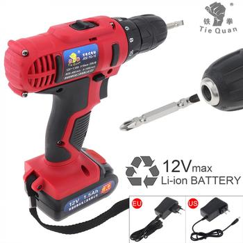 Electric Drill / Screwdriver AC 100 - 240V Cordless 12V  with 18 Gear Torque and Two-speed Adjustment Button for Handling Screws voto ac 100 240v cordless 12v electric drill screwdriver with adjustment switch and two speed adjustment button for punching