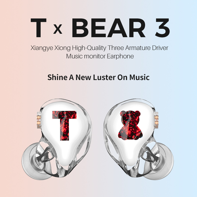 TFZ/Tx Bear 3,Monitor Earphones HIFI Headset with High Quality Tri-Motion Iron Music 5