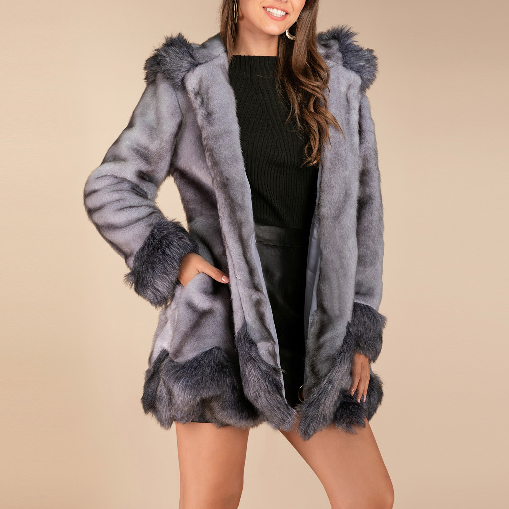 KANCOOLD Long Faux Fur Coat Women Winter Full Sleeve  Casual Fur Jacket Female Fashion Slim Warm Overcoat Outerwear Plus Size