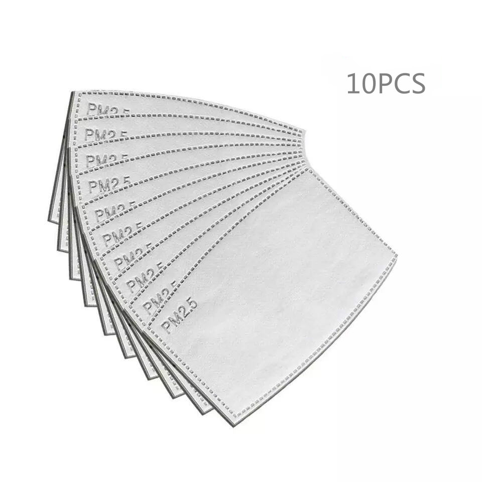 10pcs/Lot PM2.5 Activated Carbon Filter Paper For Adults Mouth Face Mask Health Care