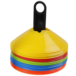 Soccer Training Sign Dish Shelf Pressure Resistant Cones Marker Disc Marker Bucket Football Training Saucer Rack Accessories 2Pc