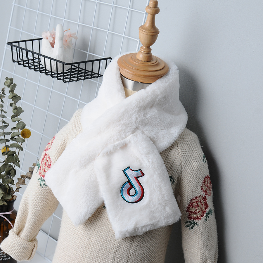 Winter New Style Korean-style Parent And Child Faux Rex Rabbit Fur Scarf Double-Sided Thick Warm Versatile Men And Women Peri