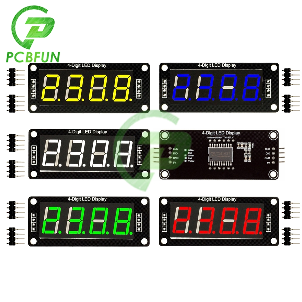 Tubo Digital LED de 7 segmentos de 4 dígitos de 0,56 pulgadas, módulo de pantalla IC con controlador TM1637, pantalla de 5V TM1637.h para Arduino Digital I/O 2 pines