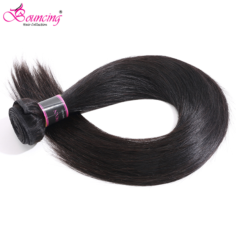 Weft Hair-Extension Human-Hair Single-Bundles Brazilian Straight Bouncing 32-34 36-38 title=