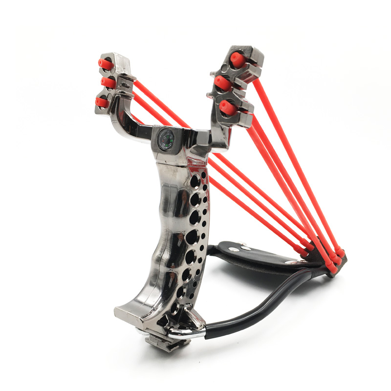 5pcs Slingshot  Hunting   Slingshot With Rubber Band Large Power Outdoor Hunting Slingshot That Can Be Folded