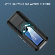 Bluetooth 5.0 Audio Transmitter Receiver Mini 3.5mm USB Music Stereo Bluetooth Dongle Wireless Adapter For TV PC Headphones 2020