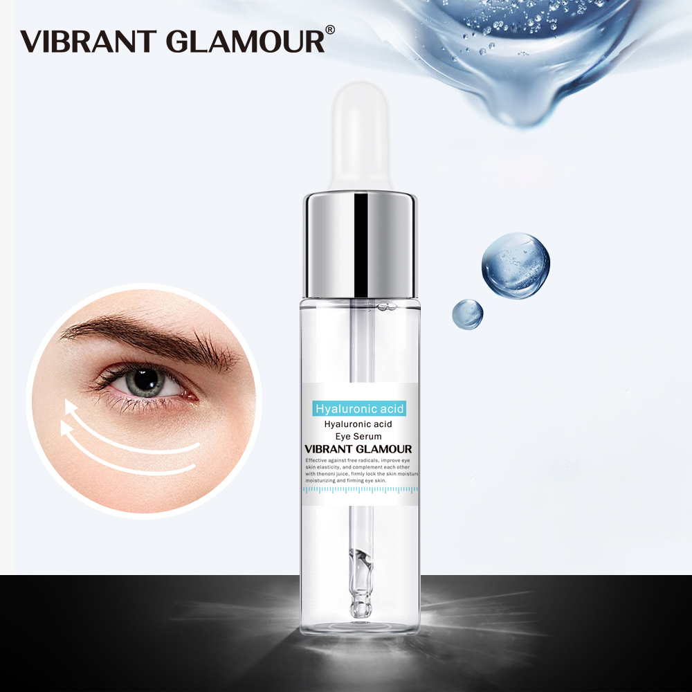 VIBRANT GLAMOUR Hyaluronic Acid Eye Serum Anti-Wrinkle Aging Essence Remover Dark Circles Cream Fat Granule Against Puffiness
