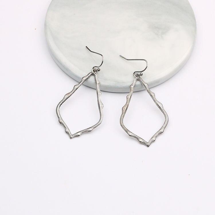 15 Colors Designer Frame Teardrop Earrings for Women Fashion Jewelry Painting Metal Water Drop Earrings Statement Earrings 3