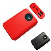 Carregador de bateria portátil dupla usb  banco de energia  diy  caso 3x18650  carregador de celular  kit de carregador de bateria portátil iphone huawei  huawei