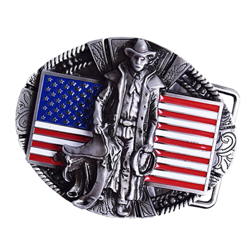 Retro American Flag Belt Buckle Western Buckle Cowboy Men Costume Access Western Steampunk Belt Buckle