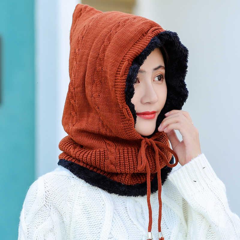 Mädchen Winter Hüte Skullies Mützen Hut Winter Mützen Für Männer Frauen Wolle Schal Caps Balaclava Maske Gorras Motorhaube Gestrickte Hut