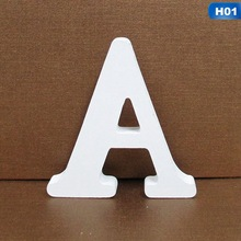 Home-Decor Wooden Letter Personalised Art-Craft Alphabet Name-Design English White 1pc