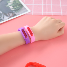 Summer Outdoor Silicone Anti Mosquito Repellent Bracelet Band Safe Childrens Insect-proof Ant buckle bugslock Wristband