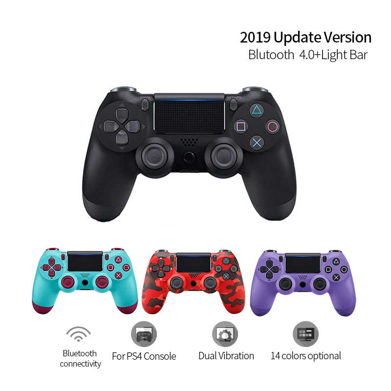Outmix Kontroler Nirkabel Bluetooth 4.0 Dual Shock Joystick Gamepad untuk PlayStation 4 PS4 Gamepad PS4 Versi 2 Mendukung PC