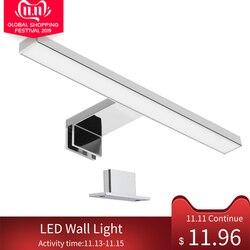 Luz conduzida da parede impermeável ip44 interior do banheiro parede-montagem luz gabinete quarto lâmpadas de parede modernas 30cm
