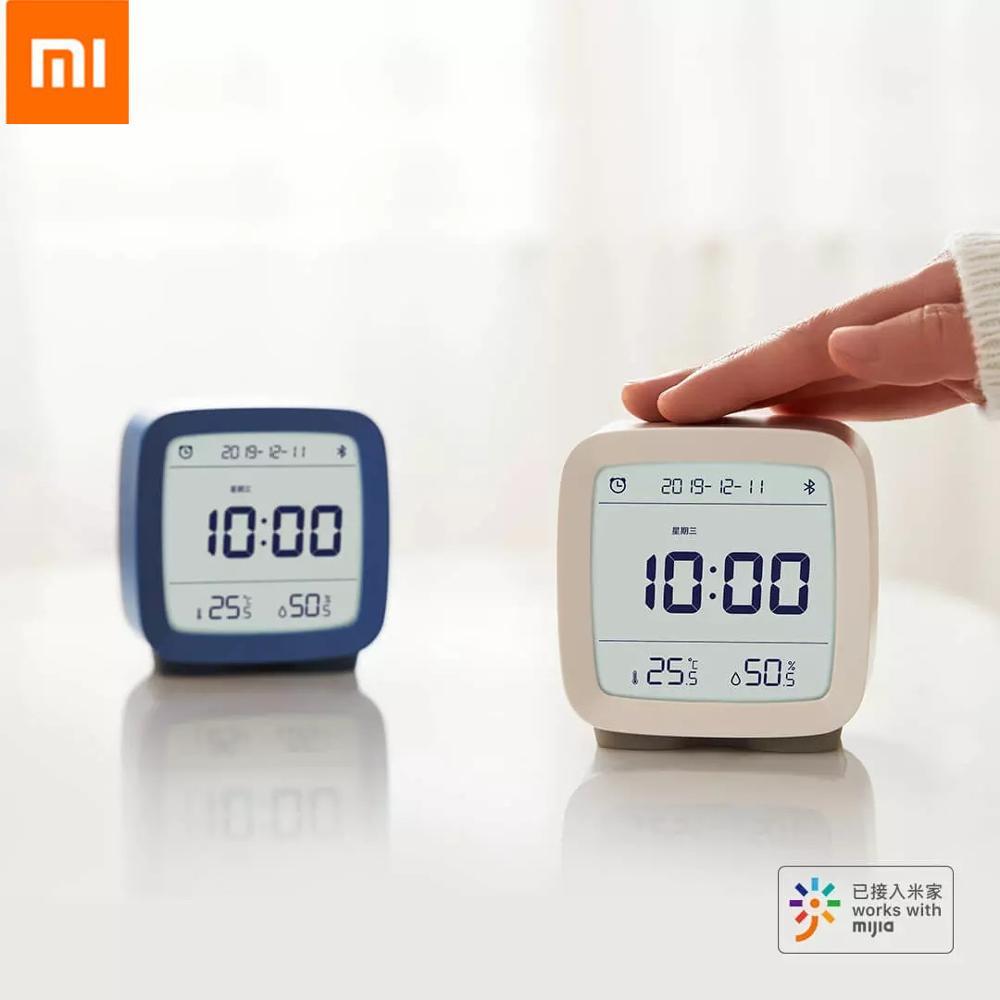 Auf lager Xiaomi Qingping Bluetooth Temperatur Feuchtigkeit Sensor Mijia Nacht Licht LCD Wecker Mihome App control Thermometer