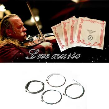 4 sztuk zestaw A E D G struny skrzypce instrumenty muzyczne ze stali nierdzewnej skrzypce części magnezu skrzypce struny 4 4 skrzypce 2020 najnowszy tanie i dobre opinie Skrzypce użytkowania Violin Strings