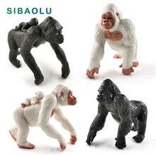 цена на New Silverback Gorilla Chimpanzee figurine Forest Animal model home decor miniature fairy garden decoration accessories modern
