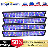 4PCS PopBloom lamp led aquarium full spectrum Led Aquarium Light for Reef fish tank with smart dimmable controller Turing75