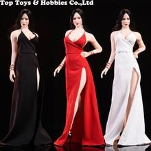 In stock WOOM TOYS C1901 1/6 Scale Ada Wong dress set Model Dress red carpet evening Fit Female Body Woman Head Sculpt