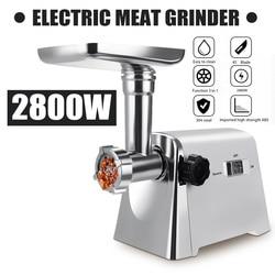 2800W 220V قوية الفولاذ المقاوم للصدأ الكهربائية اللحوم المطاحن المنزل السجق ستوفير اللحوم المفرمة الثقيلة المنزلية اللحوم المفرمة
