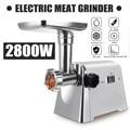 2800W 220V Krachtige Rvs Elektrische Vlees Slijpmachines Thuis Worst Stuffer Vleesmolen Zware Huishoudelijke Vleesmolen
