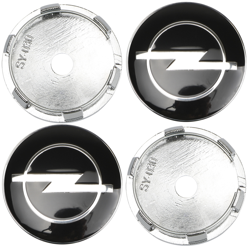 4 Pcs Vauxhall Hub Caps Alloy Wheel Centre Cap Set Astra Zafira Corsa Black 60mm