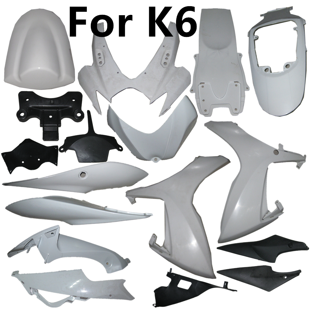 Motorcycle For Suzuki GSXR600 GSXR750 K6 GSXR 600 06-07 Single Fairing Cowling ABS Components Middle Part Of Head And Tail