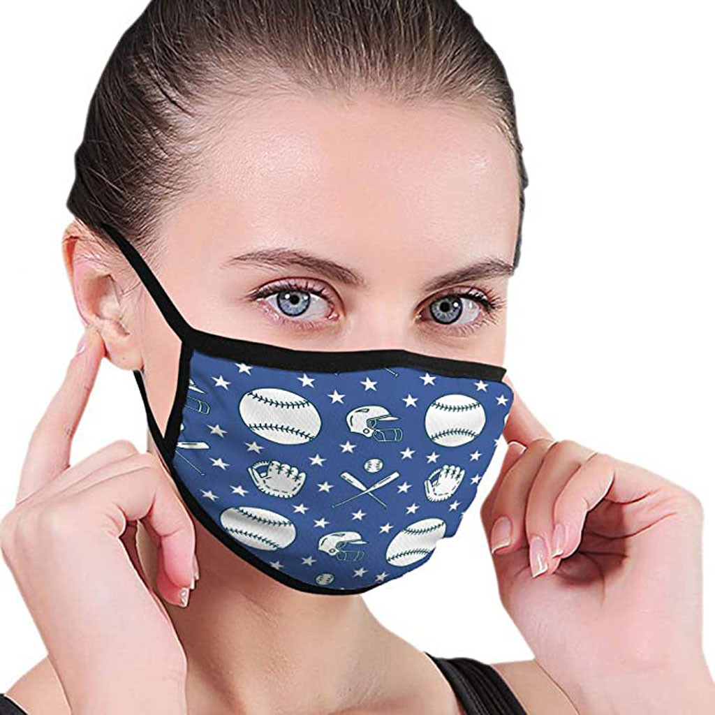 Printed Face Mask Fabric Adult Protective Face Masks PM2.5 Filter Dust Face Masks Washable Reusable Mouth Mask Respirator