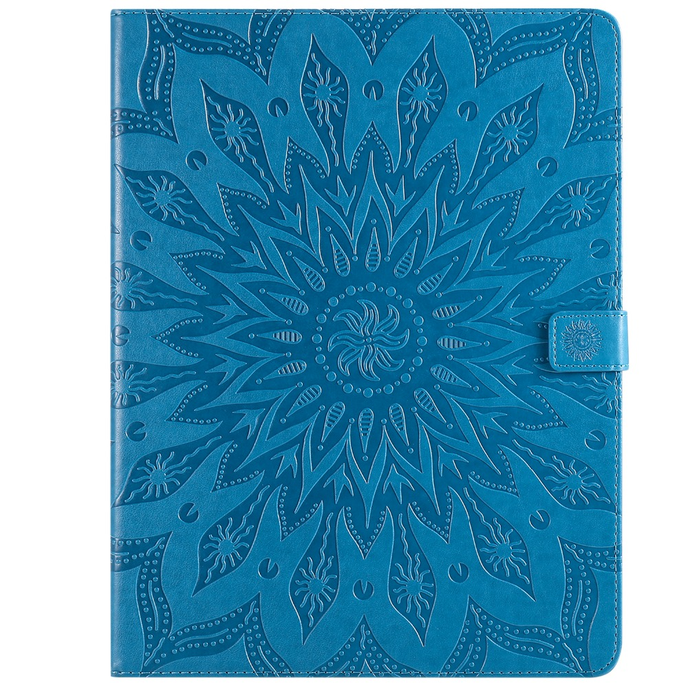 Case Leather 2020 3D Skin Protective Cover Flower iPad Pro 12 Shell for Embossed 9