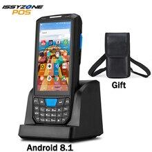 ISSYZONEPOS محطة Pos المحمولة أندرويد 8.1المساعد الشخصي الرقمي 1D 2D هانيويل الباركود الماسح الضوئي 4G NFC الباركود قارئ المحمولة جامع البيانات