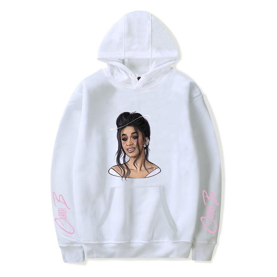 New Cardi B Hoodies Men/Women Fashion Sweatshirt 2019 Spring/autumn Winter Long Sleeve Boys/girls Casual Hooded Teenage Tops