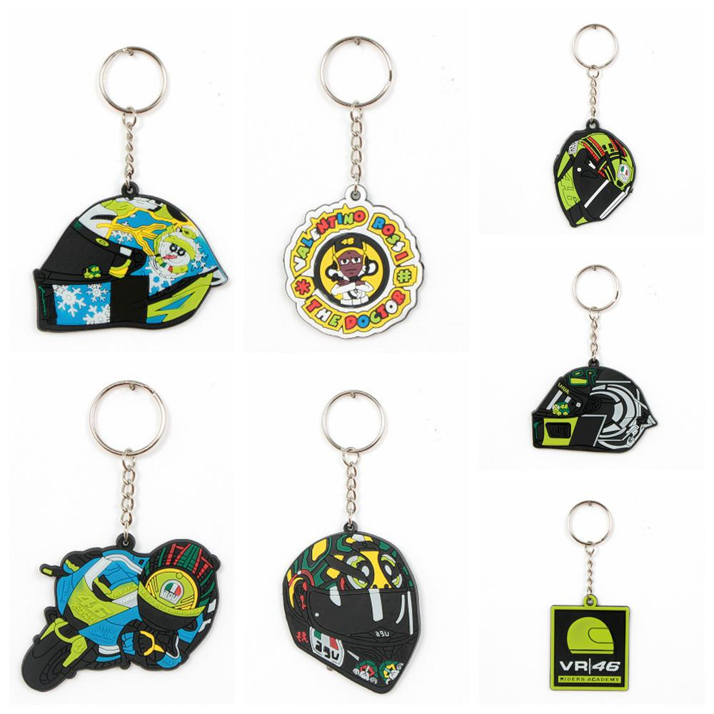 HobbyLane Motorcycle Helmet Model Keychain Keyring Key Chain Rubber Key Ring for Gp Racing Honda Yamaha Motors Accessories Hot