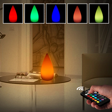 купить 5W 16 Colors RGB Remote Control LED Night Light Waterproof USB Rechargeable Desk Light Bedroom Dimmable LED Table Lamp дешево