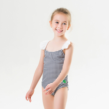 New Children #8217 s Swimwear Summer New Swimwear Girls Children #8217 s Straps Cute Printed Swimwear One-piece Swimsuit cheap Polyester Plaid Fits smaller than usual Please check this store s sizing info 82019