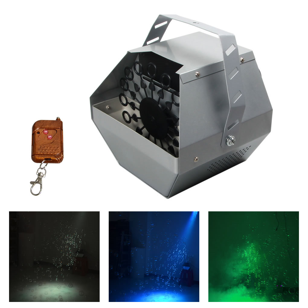 Remote Control 110V 220V Bubble Machine For DJ Stage Wedding Parties Effect Decor Automatic Blowing Bubbles Foaming Equipment