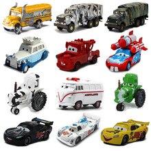 Disney pixar carros 2 3 brinquedos mcqueen mater vaca ônibus escolar edição limitada 1:55 diecast veículo liga de metal menino brinquedo presente aniversário