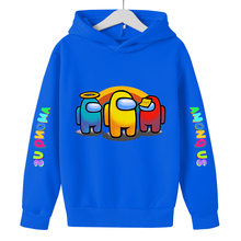Spring Among Us Funny Anime Hoodie Children Size Boys&Girls Long Sleeve Hooded Sweatshirts Street Style Games Harajuku Clothes