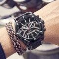MEGIR Модные Аналоговые кварцевые наручные часы для мужчин 24 часа хронограф кожаные часы Топ бренд класса люкс Relogios Masculinos часы 2020