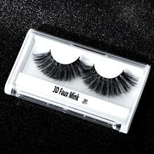 Strip 3D Wispy False Eyelashes Faux Mink Eye Lashes Crossing Natural Long Fake Eyelash Soft Cilios Makeup Tool 1 Pair