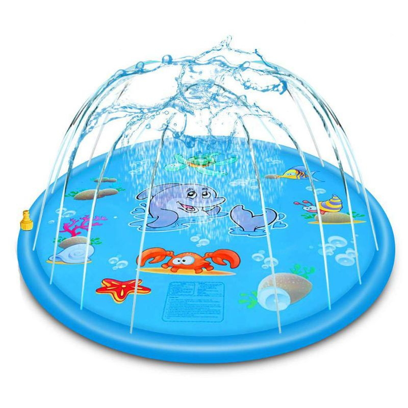 PVC Inflatable Cushion Baby Kids Spray Water Game Pad Outdoor Lawn Children Play Water Mat Boys Girls Summer Gifts R7RB