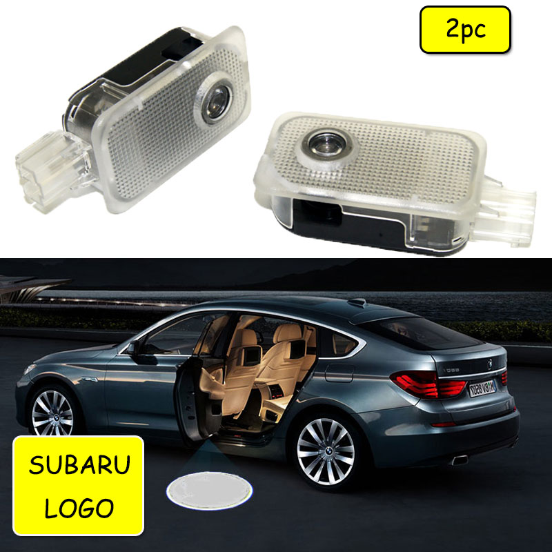 Car Door Welcome Projector LED Lights For SUBARU Forester Outback Legacy Impreza XV Tribeca 2011 Logo Light Ghost Light