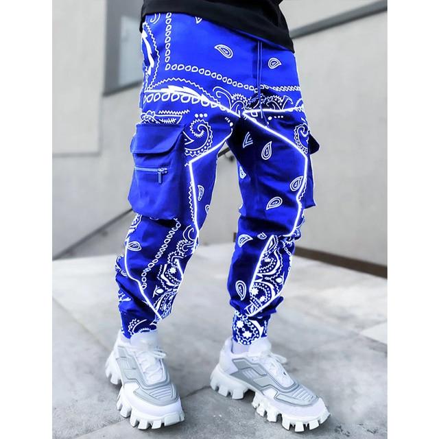 Hip hop printing pants men trousers fashion streetwear sweatpants for men joggers High street Loose cargo pants men 4