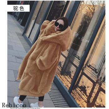 Oversized Winter Faux Fur Coat Women Parka Long Warm Faux Fur Jacket Coats Hoodies Loose Winter Coat Outwear casaco feminino 2