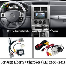 Reverse Camera Kit Voor Jeep Liberty Cherokee Kk 2008 2011 2012 2013/Hd Rear View Parking Camera Compatibel met Oem Screen