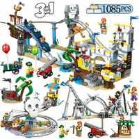 1085 piezas Legoingly creador bloques de ciudad pirata Montaña Rusa piratas figuras bloques de construcción niños educación imaginación juguete