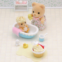 Sylvanian Families Toy Sylvanian Families Baby Bear Bathroom Set GIRL'S Play House Doll Toy 5092