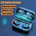 Беспроводная Bluetooth-гарнитура S11Wireless с сенсорным цифровым дисплеем, Спортивная мини-стереогарнитура с зарядным боксом, качественный звук 9d, ...